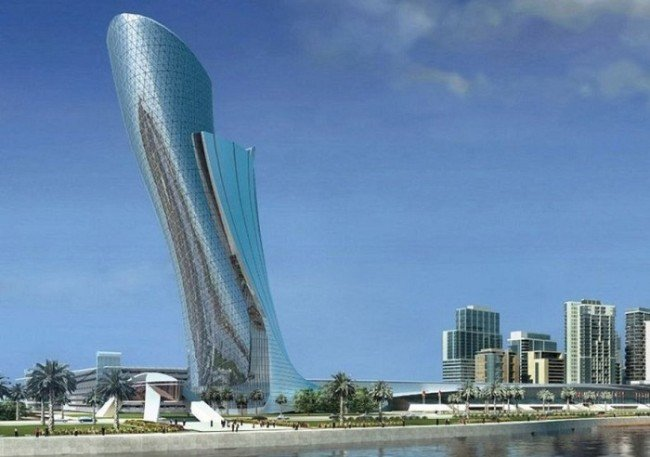 """8. """"Leaning"""" Tower (Abu Dhabi, Emirados Árabes)"""
