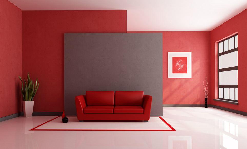 Um ambiente que contém o vermelho se torna vibrante, com glamour, requinte e estimula a sexualidade.