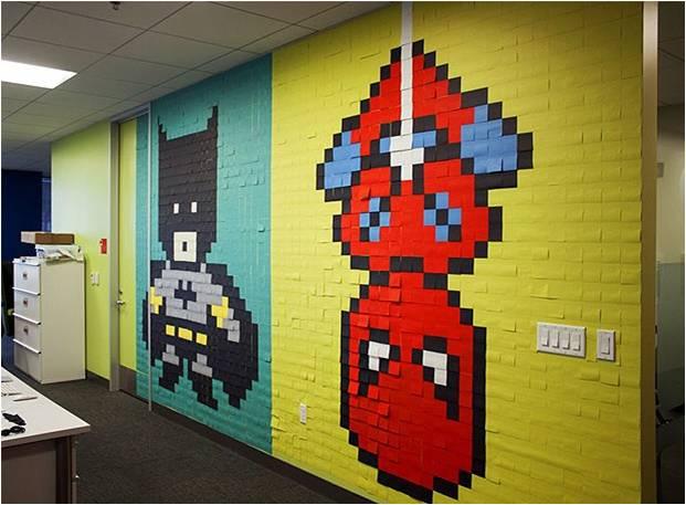 Você consegue reconhecer os personagens das paredes? | Foto Ben Brucker