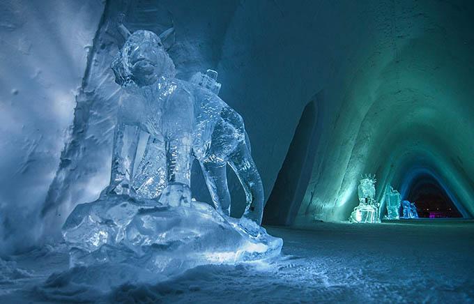 Kirkenes Snow Hotel Noruega, escultura @ nevra Artes